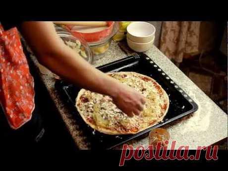 Как приготовить пиццу быстро! Видео рецепт. - YouTube