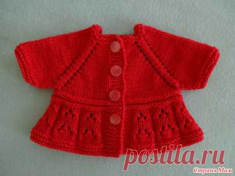 We knit a suit for a baby doll spokes. Part 1. Jacket. - Clothes for a doll - the Country of Mothers