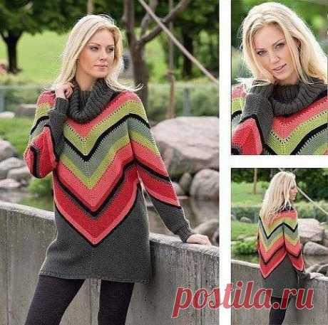 Вяжем яркий свитер в мексиканском стиле из категории Интересные идеи – Вязаные идеи, идеи для вязания