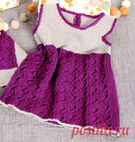 Вяжем детское платье