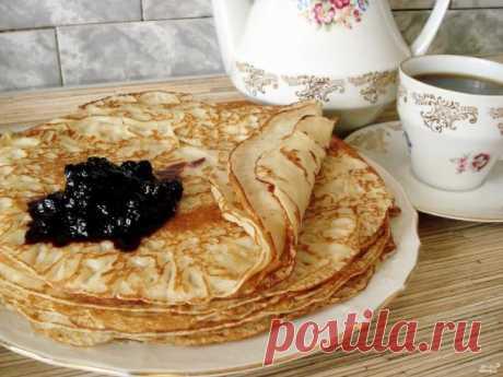 Блины на ряженке тонкие - пошаговый рецепт с фото на Повар.ру