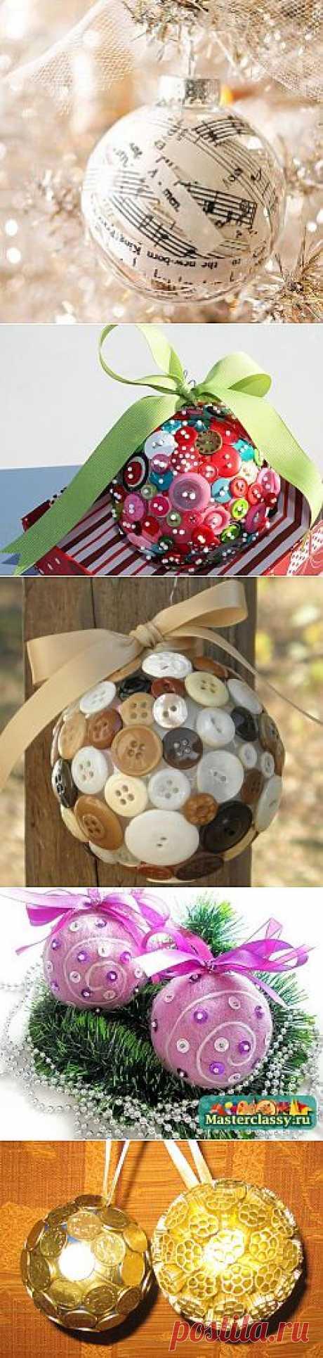 Четыре простых способа сделать новогодние шары.