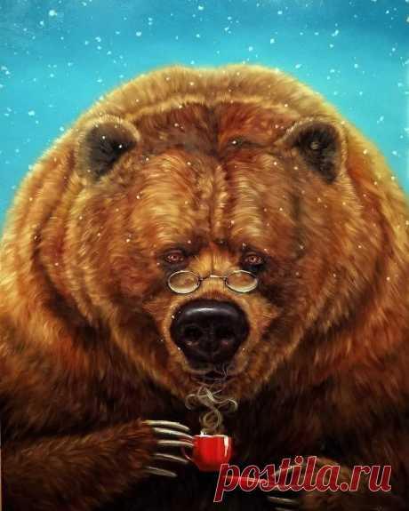 """ღА вечером, когда пили чай, Медвежонок сказал: - Не знаю когда, но когда-нибудь обязательно будет лучше. - Ещё бы! - подхватил Ёжик.  А Медвежонок думал: """"Не может же быть, чтобы всё плохо и плохо - ведь когда-нибудь должно быть хорошо!"""""""