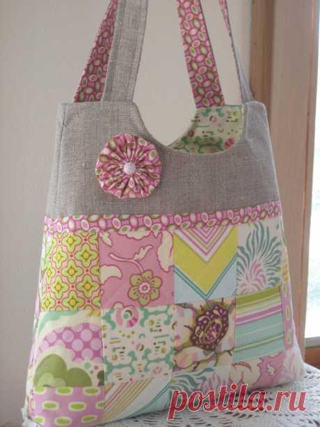 Пляжные сумки из лоскутов — Рукоделие