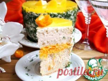 Закусочный торт с куриным паштетом - кулинарный рецепт