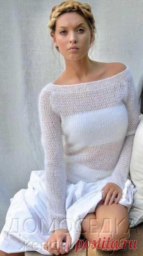 Шикарный тонкий вязаный пуловер