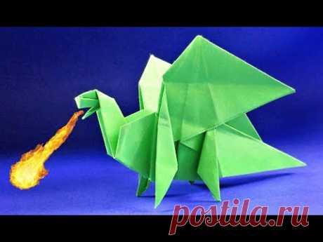 Как сделать дракона из бумаги. Оригами ДРАКОН