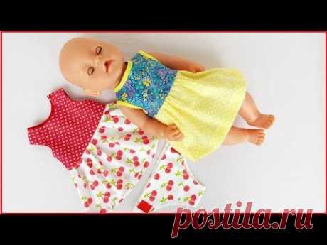 Как сшить платье для куклы Беби Бон.How to sew a dress for a Baby Bon doll.