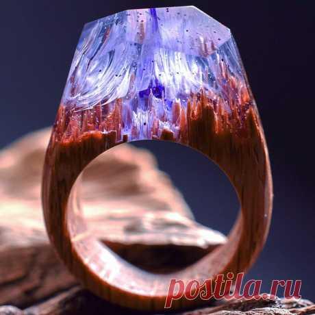 Потрясающие кольца из натуральных материалов, словно их создала сама природа
