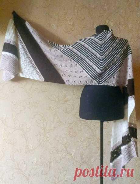 Как связать интересный палантин - шарф | Сундучок с подарками | Яндекс Дзен