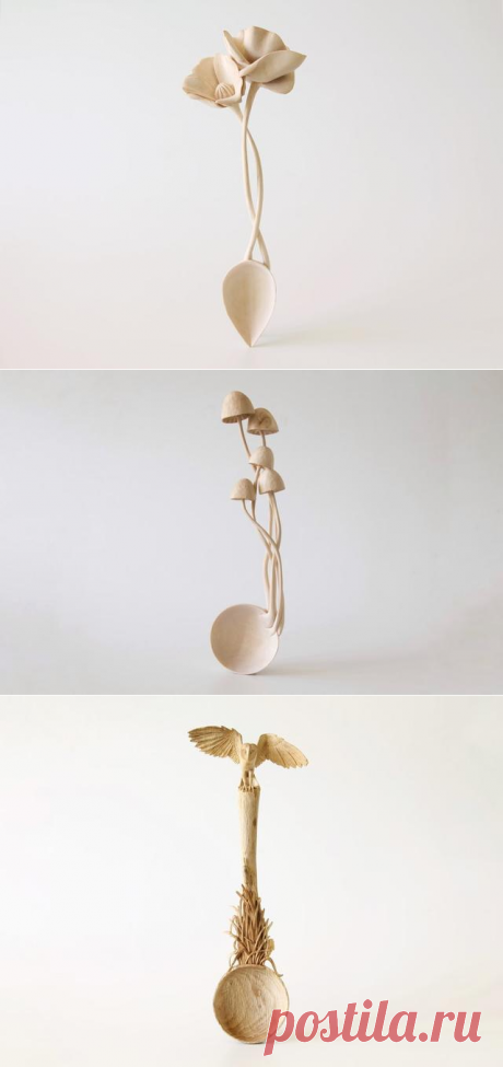 Деревянные ложки как искусство — 8 фото для вдохновения
