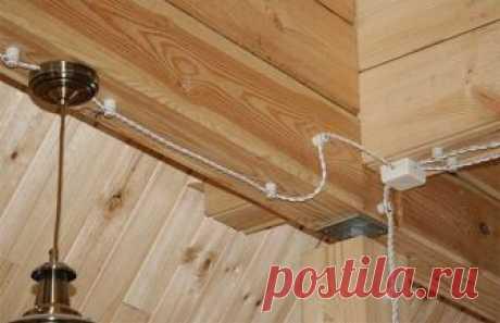 Монтаж электропроводки в деревянном доме – делаем сами, соблюдая правила