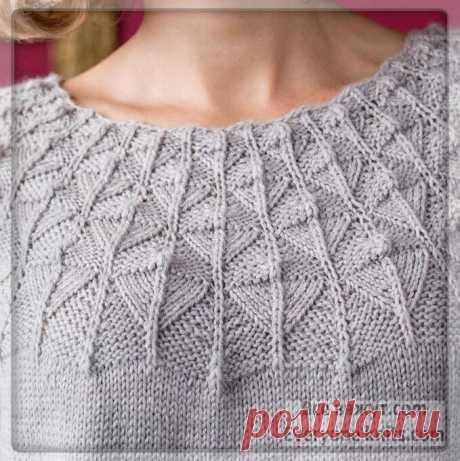 Пуловеры и круглые кокетки спицами. Более 20 вариантов для вашего вязания. | Все вяжут.соm/Everyone knits.com | Яндекс Дзен