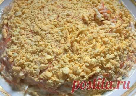 Праздничный салат из печени трески - пошаговый рецепт с фото. Автор рецепта Татьяна . - Cookpad