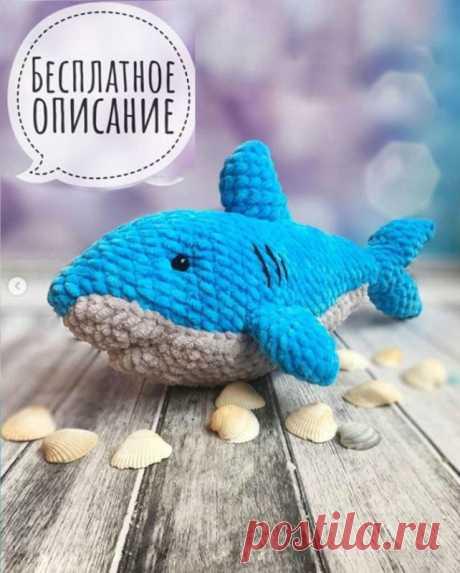 Амигуруми акула крючком из плюшевой пряжи с описанием Амигуруми акула крючком от автора мастер - класса Анны Насенок@amigyrymitoys. Для вязания акулы нужна пряжа Himalaya Dolphin Baby и крючок 4. Игрушка