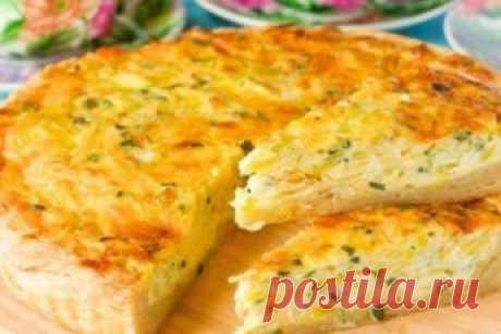 Мега аппетитный пирог с капустой и сыром исчезает со стола за считанные минуты. - vkusno