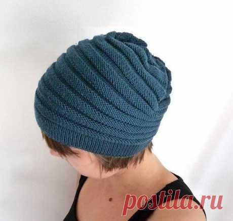 Удобная шапочка (Вязание спицами) – Журнал Вдохновение Рукодельницы