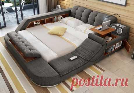 Удивительная многофункциональная кровать | Роскошь и уют
