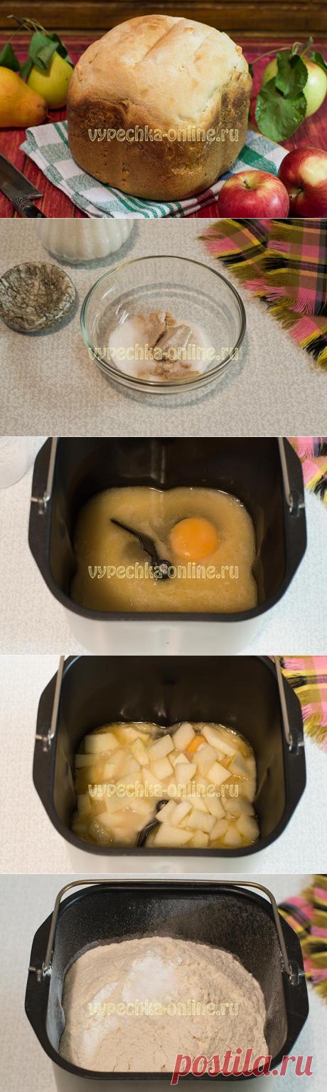 ✔️Сладкий хлеб в хлебопечке – рецепт с яблоками
