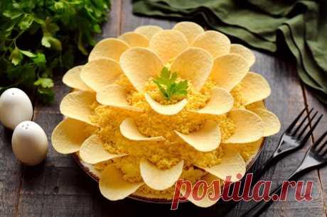 Готовим салат Хризантема на праздничный стол.