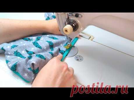 Обработка срезов футболки без распошивалки. МК+ выкройки
