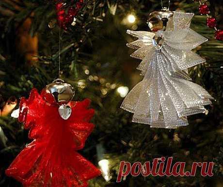 Ангелы для новогодней ёлки.