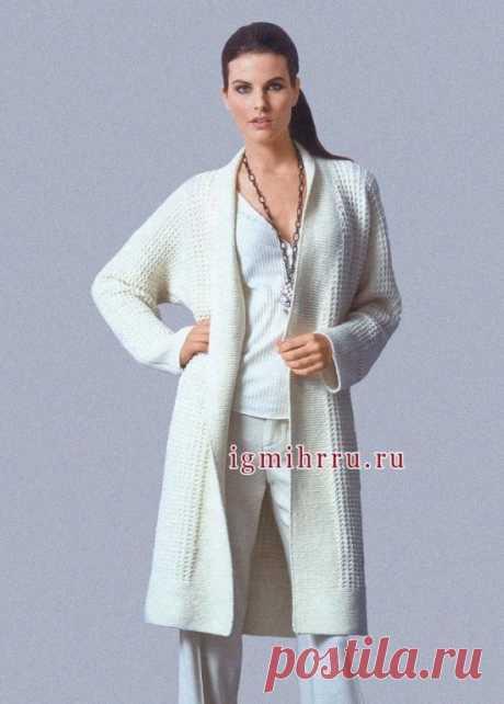 Stylish long cardigan (Knitting by spokes) | Inspiration of the Needlewoman Magazine