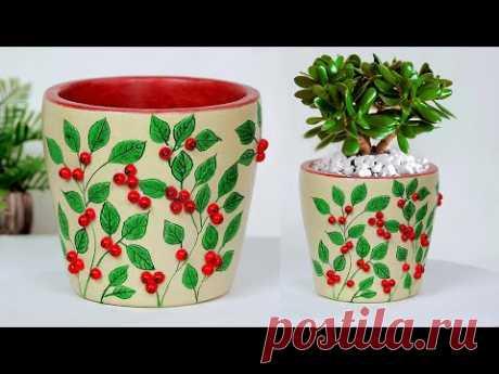 Handmade flower vase making    Cement flower vase - Gypsum flower vase making