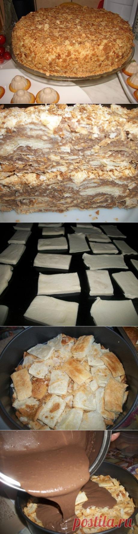 Как приготовить оригинальный торт наполеон (за пол часа) - рецепт, ингридиенты и фотографии