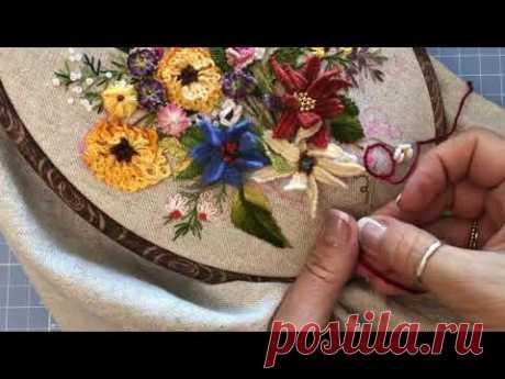 Новые декоративные швы, плетение клубнички иглой, brazilian embrodery
