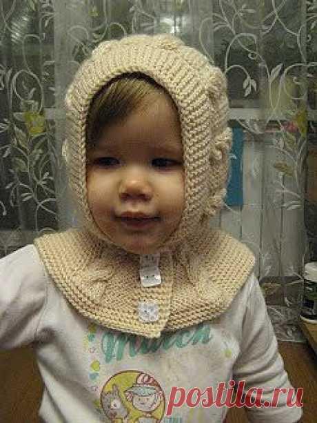 МК по вязанию шапки-шлема для девочки.
