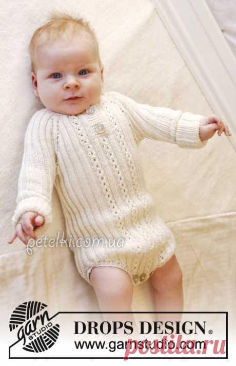 Боди для новорожденного спицами. Simply Sweet . Описание, схемы вязания