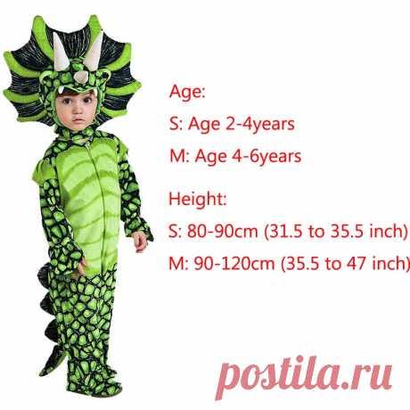 Новый костюм Трицератопс мальчиков дети маленькие T Rex костюм Косплэй динозавров комбинезон Хэллоуин Косплэй Новогодние костюмы для детей купить на AliExpress