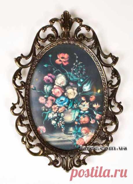 Купить декоративную рамку для интерьера винтаж шебби шик цветы розы | Интернет-магазин подарков Ларец