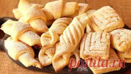 Любимое творожное печенье с ореховой начинкой. Выпечка к чаю!