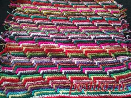 Вяжем из остатков пряжи/3D узор крючком для любого изделия/Crochet