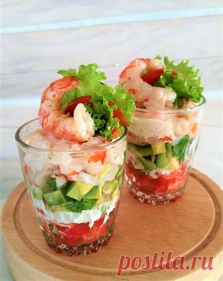 Салат с креветками и авокадо | Мечтательная кошка | Яндекс Дзен