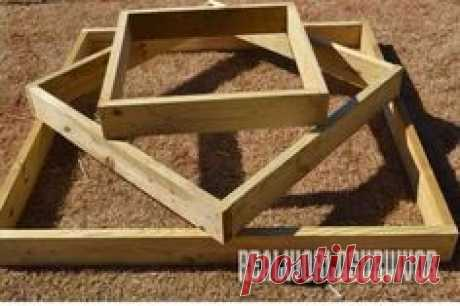 Stack 3 wood boxes to build a lovely, functional fixture for your garden