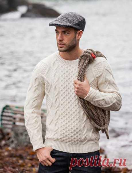 Men's Hand Knit Sweater 167B – KnitWearMasters