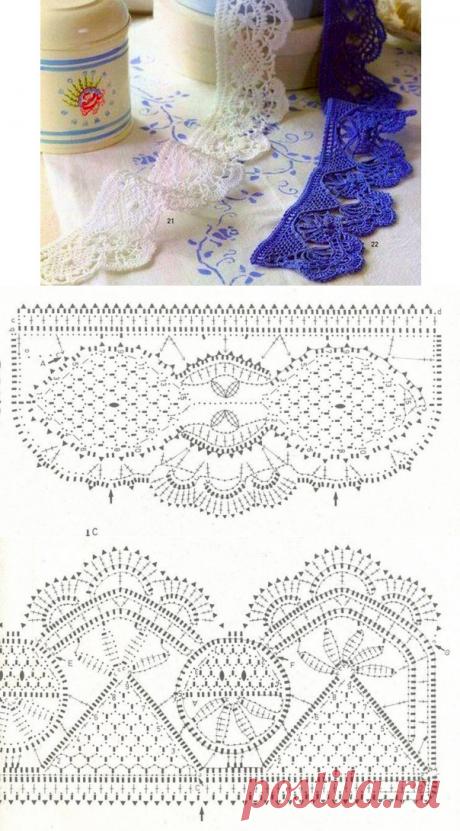 Decorative border. Scheme of knitting