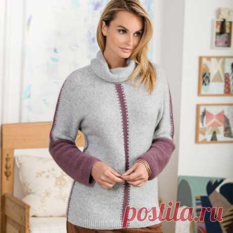Уютный и элегантный свитер в благородных пепельно-розовых тонах (Вязание спицами) – Журнал Вдохновение Рукодельницы