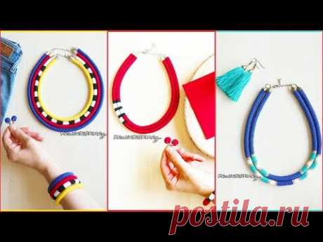 ORGU KOLYE BILEZIK KUPE YAPIMI (HOW TO MAKE CROCHET  NECKLACE BRACELET EARRİNG) - YouTube