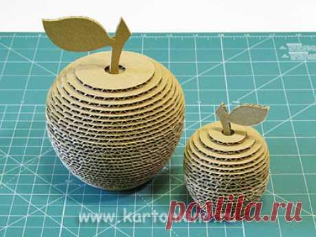 Мастер-класс: 3D яблоко из картона.