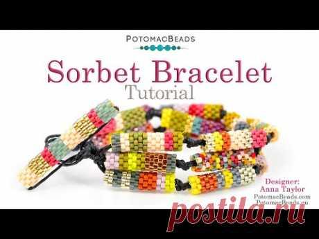 Sorbet Bracelet - DIY Jewelry Making Tutorial by PotomacBeads