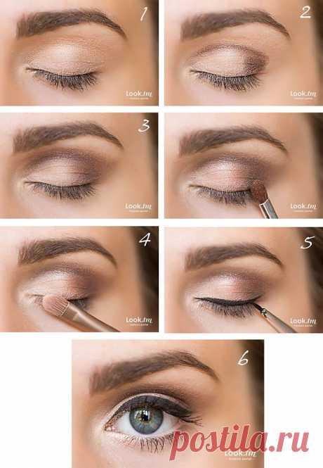 Дневной макияж со стрелками (фото-урок)