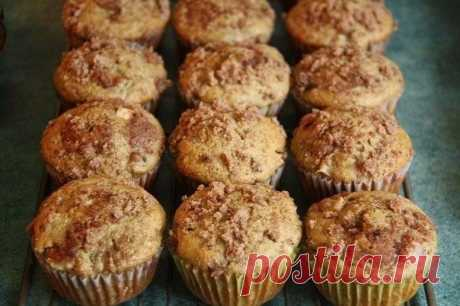 Natural banana muffins on kefir without additives