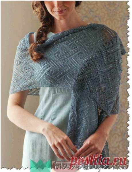 Scarf female openwork \/ Knitting