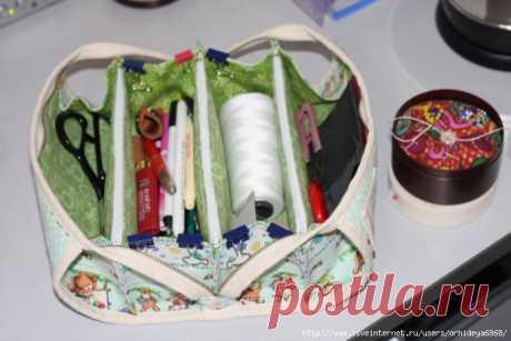 Очень удобная и вместительная сумочка для рукоделия — Сделай сам, идеи для творчества - DIY Ideas