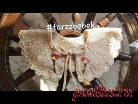 Çok zarif vintage bebek yakası #vintage #handmade knittingpattern #babycrochet