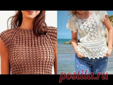Топ крючком для женщин - Crochet top for women